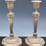 Silver candelsticks