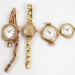 Ladies gold watches