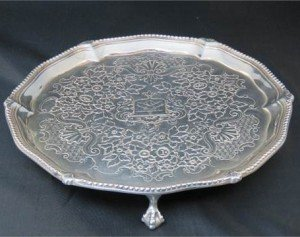 A George III HM silver salver