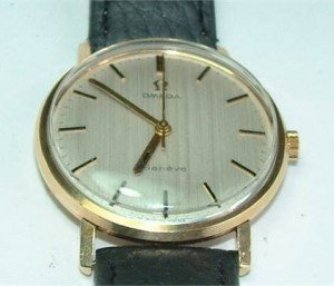 Omega Manual Wind Gentlemens 9ct Gold Wristwatch.