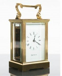 Mappin & Webb brass carriage clock