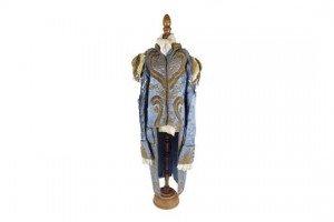 child's blue silk dress coat