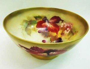 porcelain circular fruit bowl