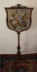 Mahogany Fire Screen