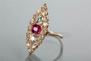 cluster dress ring