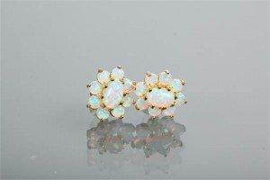opal cluster earrings