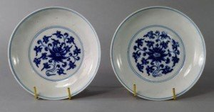 Chinese porcelain saucer dishes