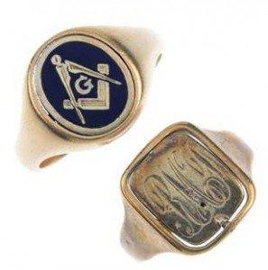 enamel swivel Masonic rings