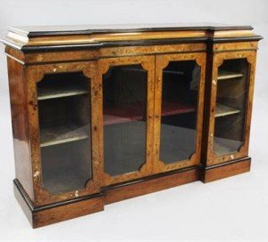 nlaid side cabinet