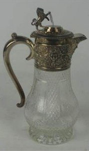 cut glass claret jug