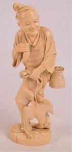 carved ivory okimono