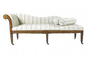 satinwood chaise lounge