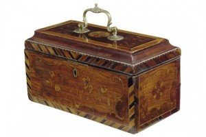 marquetry tea chest