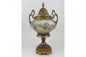 ormolu mounted porcelain urn