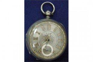 gentleman's open face pocket watch