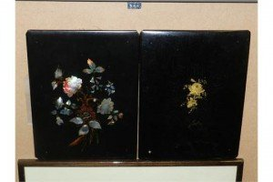 mother-of-pearl inlaid panel