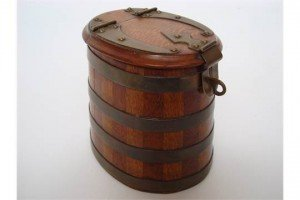 mahogany tobacco box