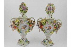 twin handled urns