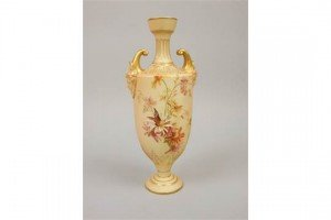 ivory ground vase