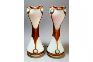 opalescent glass vases