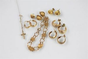 collection of gold jewellery