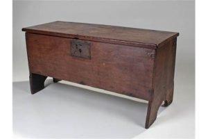 oak six plank coffer