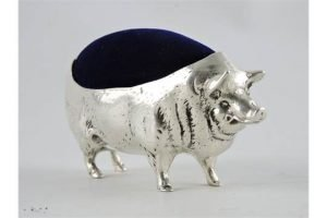 metal pig pin cushion