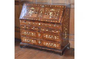 gilt metal mounted bureau