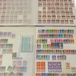 Antique postage stamps