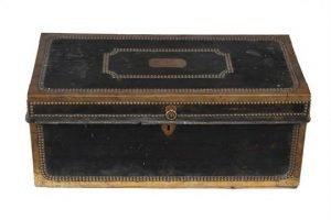 brass mounted camphor trunk