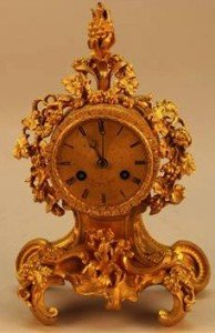 gilt French mantle clock