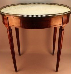 marble-top bouillotte table
