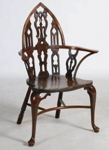 Gothic Windsor armchair