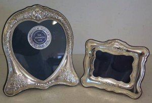 Two silver picture frames