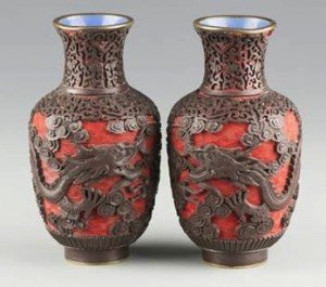 Lacquer Cinnabar Vases