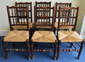 spindle back dining chairs