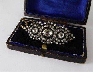 Lady's Rose Cut Diamond Brooch
