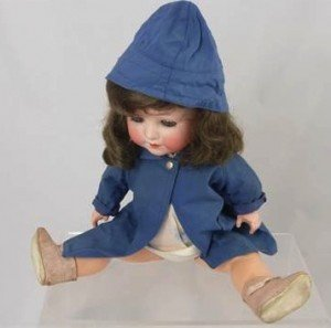 German Porcelain Headed Doll