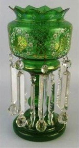 glass lustre vase