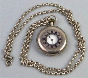 hunting cased fob watch