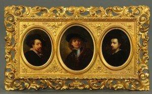 tryptic of three portraits