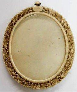 carved ivory oval frame