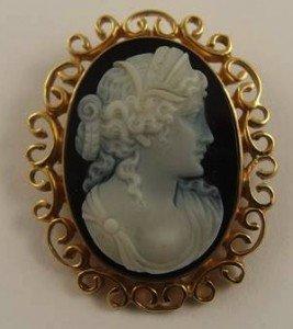 cameo pendant brooch