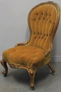 spoon backed ladies chair