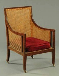mahogany Bergere chair