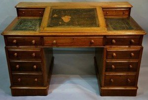 mahogany 'Dickens' desk