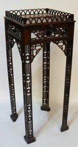 mahogany urn stand