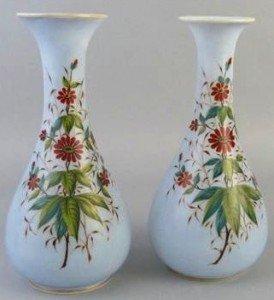 opaque glass vases
