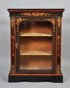 ebonized pier cabinet