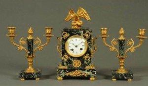 Empire style clock